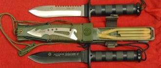 два ножа выживания