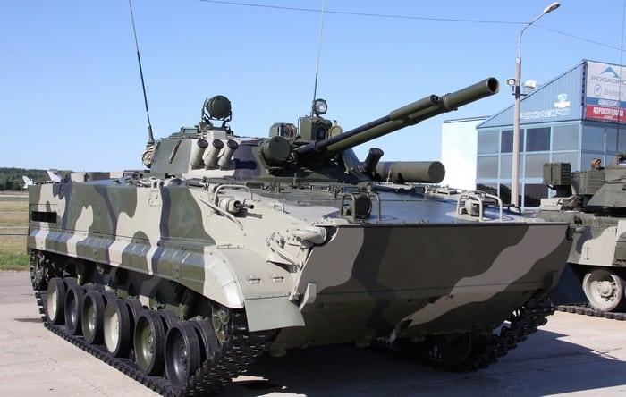 БМП-3 на выставке