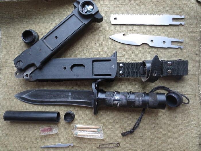 комплектация ножа выживания