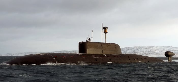 барракуда апл 895 в море