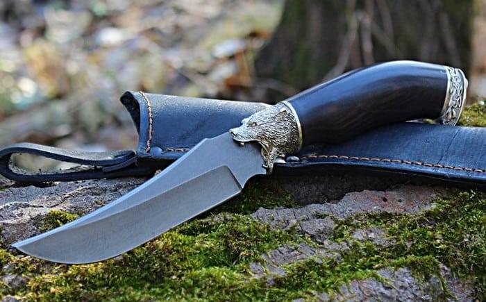 Нож из дамасской стали рыбацкий