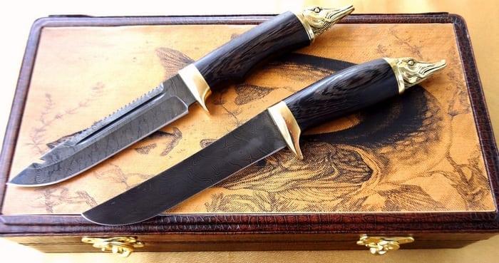 Ножи из дамаска подарочные