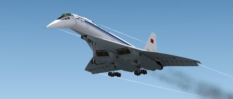 самолёт Ту-144 внебе
