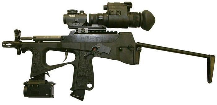 пп-200 с разложенным прикладом и оптикой