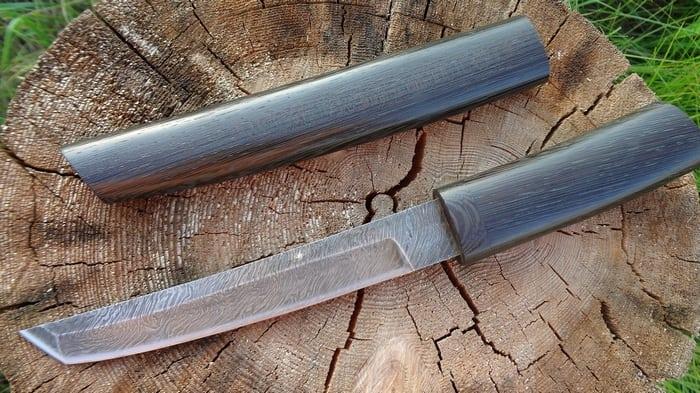 Нож танто из домаска