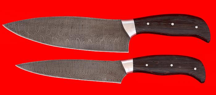 Кухонные ножи из дамаска