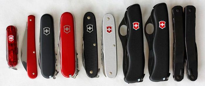 Виды швейцарских ножей