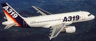 Airbus A319 в полёте
