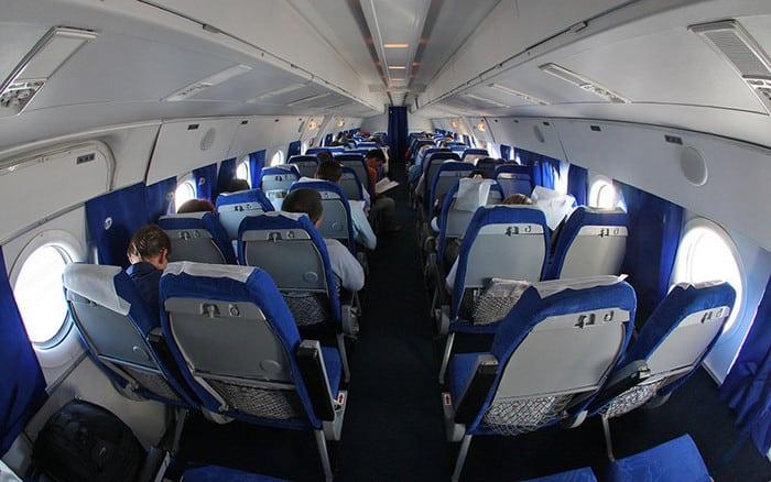 Салон Самолета ту 134