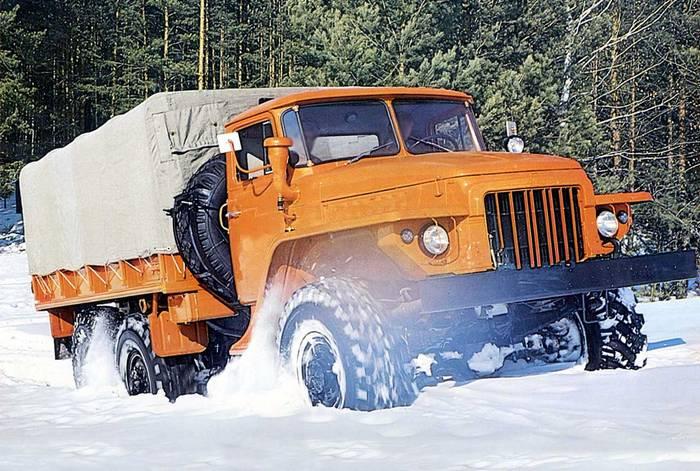 Урал 375 зимой