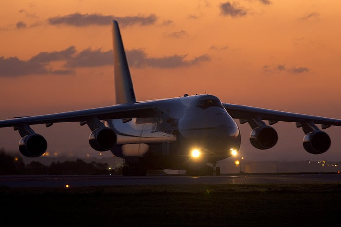 АН-124 ночь