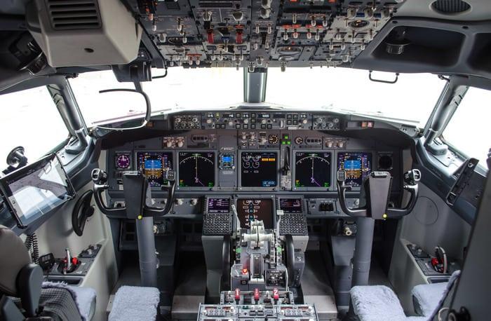 Boeing 737-800 Кабина