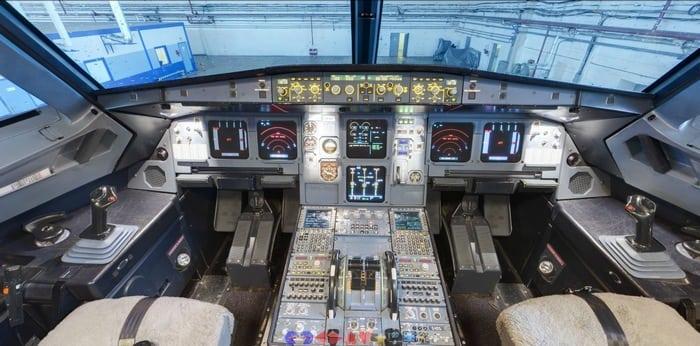 Кабина Аэробуса а 320