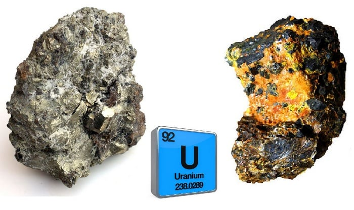 Уран камень, металл