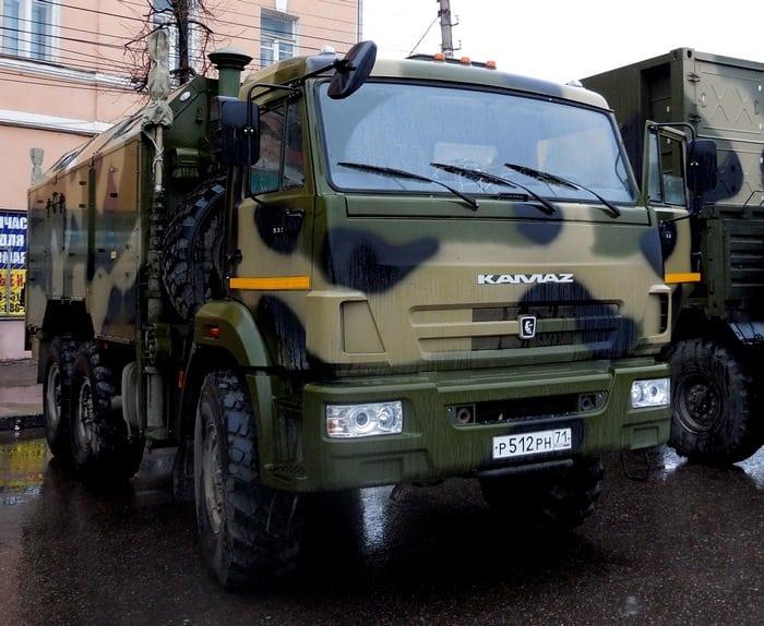 Военный КАМАЗ 5350 Бронированный