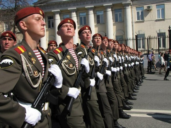 Парадная форма Российской Армии