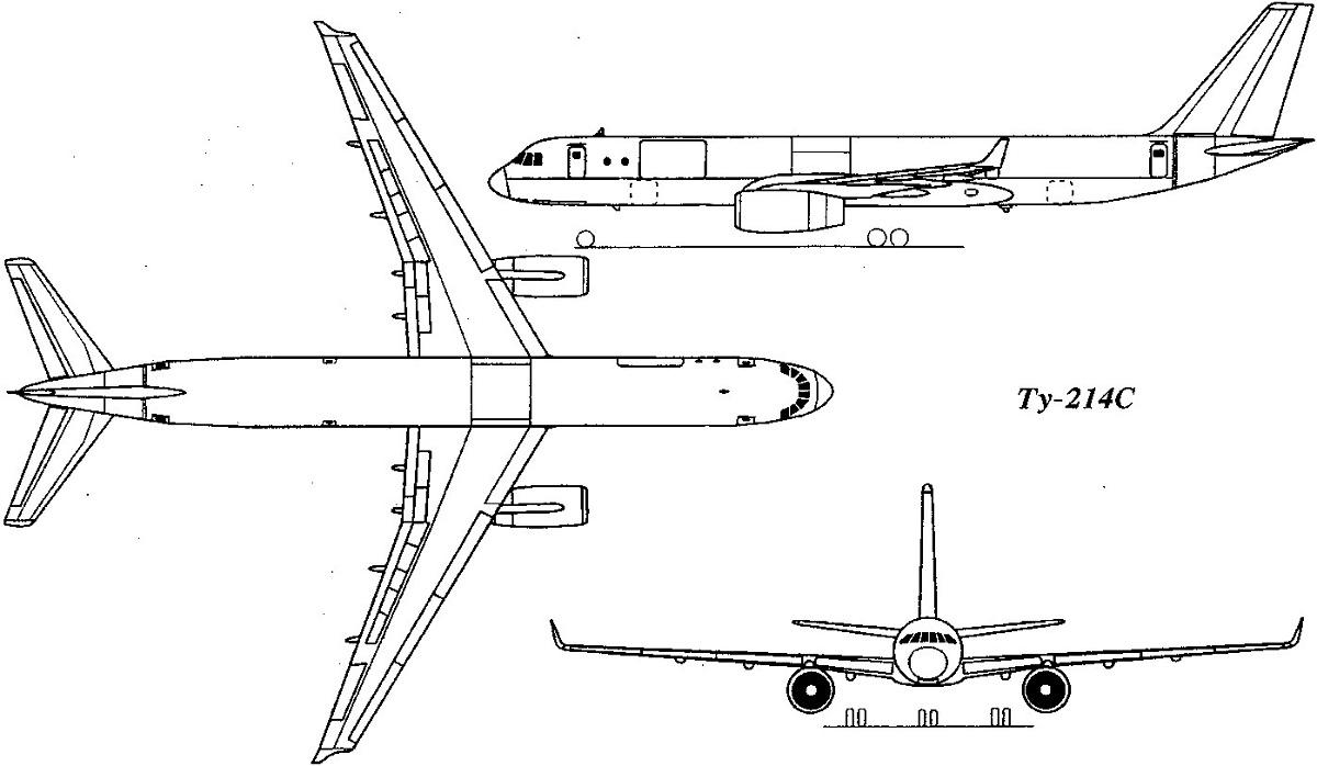 Конструкция лайнера Ту-214