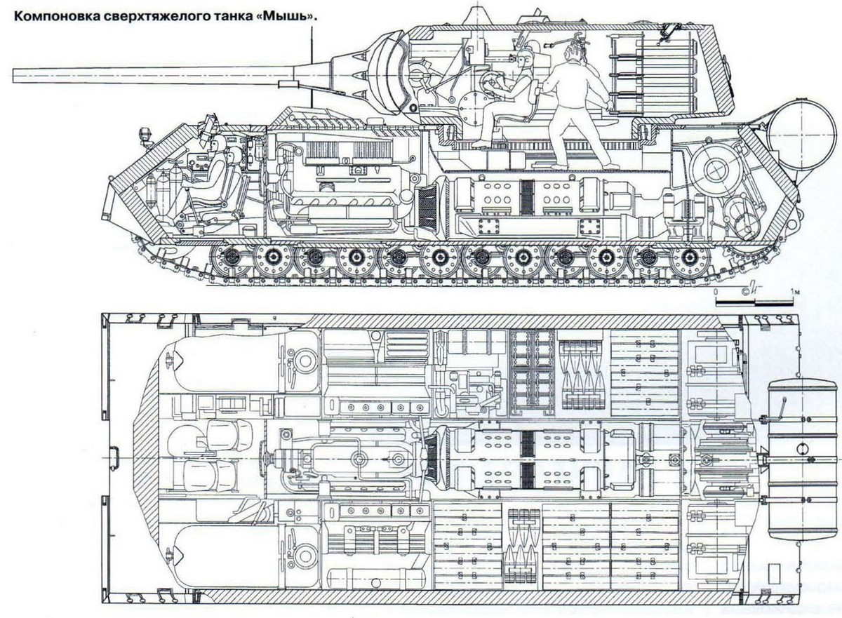 Танк Маус схема