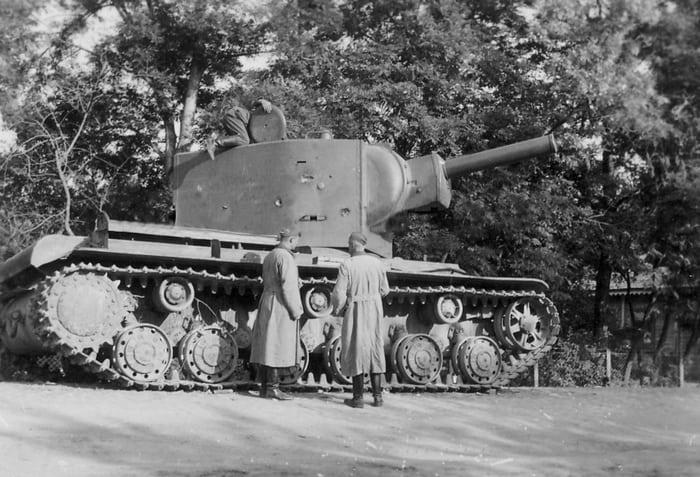 КВ-2 старое фото