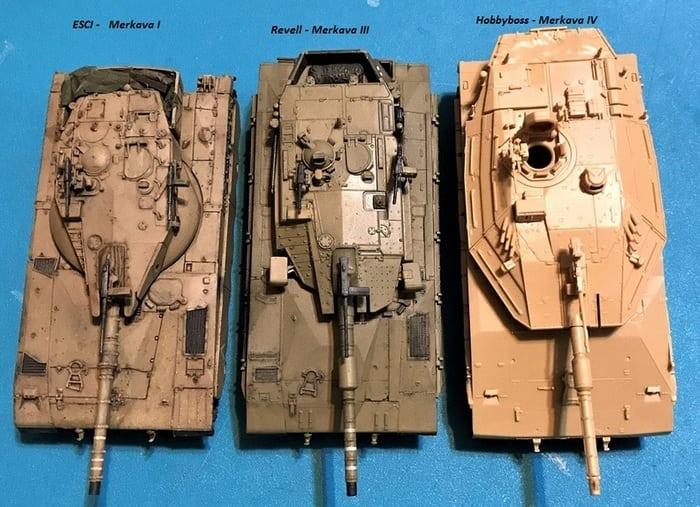 Модели танка Меркава