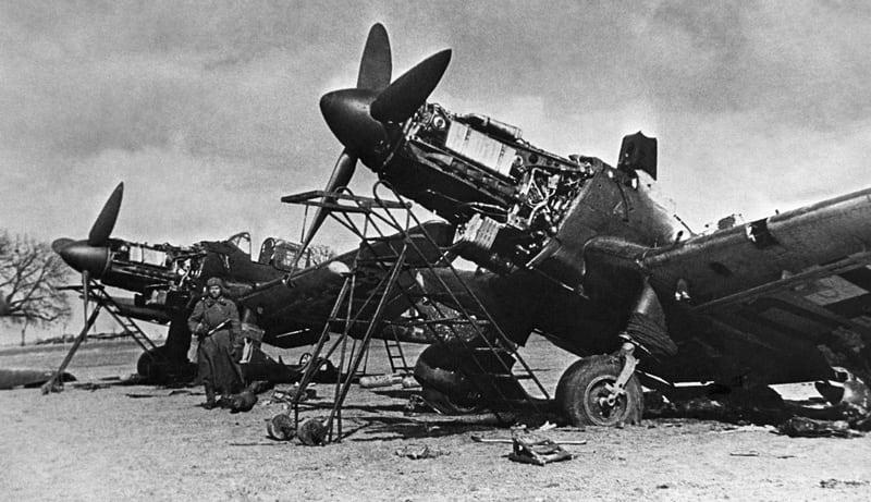 захваченные немецкие самолеты