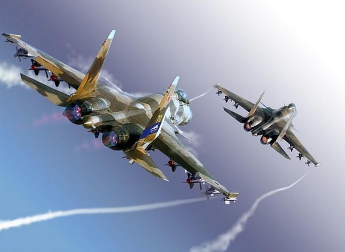 СУ-37 в небе