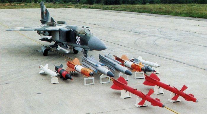 Вооружение МИГ-23
