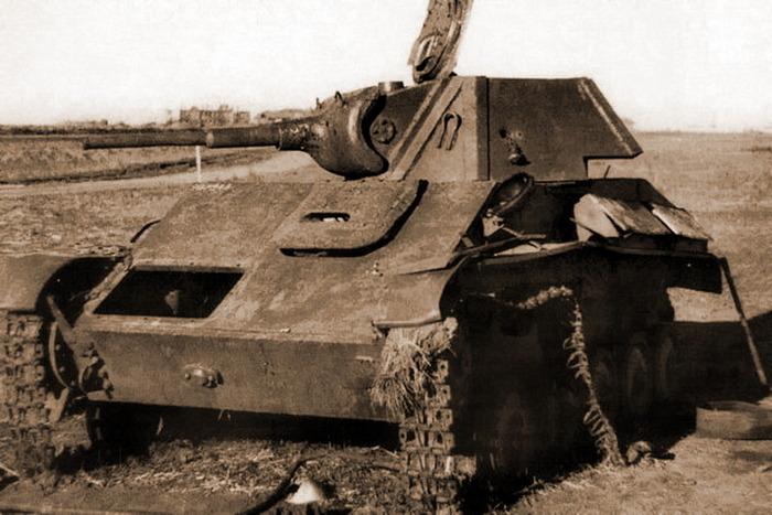 Подбитый т-70