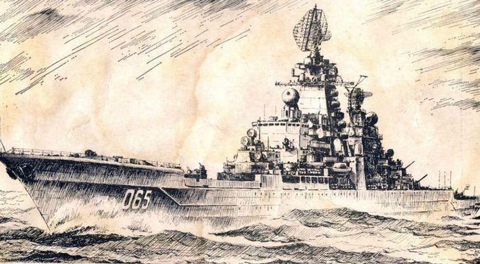 Крейсер Киров рисунок