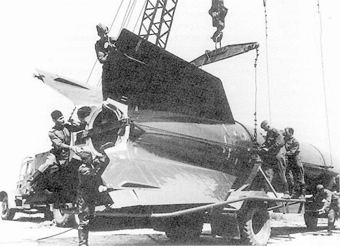 Ракета Р-1 на транспортере-подьемнике