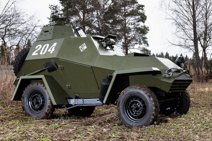 Броневик БА-64 реконструкция