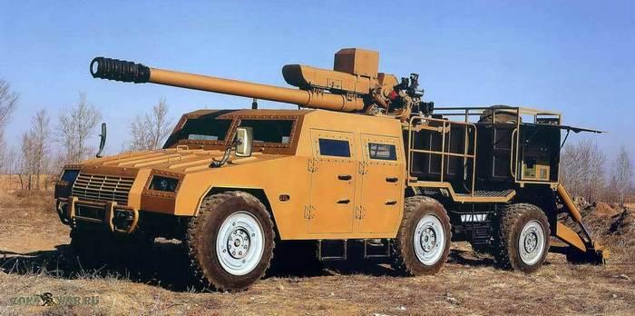 Китайская 122-мм самоходная гаубица