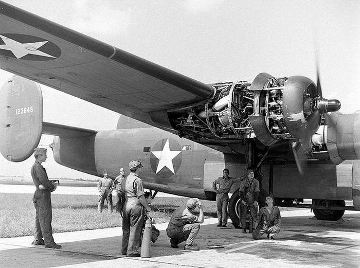 Consolidated B-24 Liberator двигатель