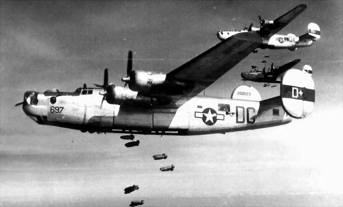 Consolidated B-24 Liberator в бою