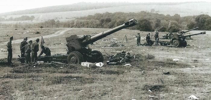 Гаубица Д-20 в бою