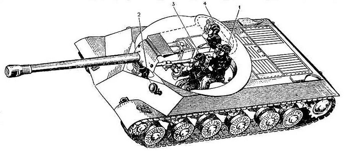 Чертёж танка ИС-3