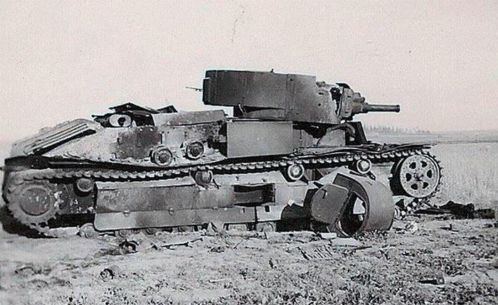 Т-28 подбитый