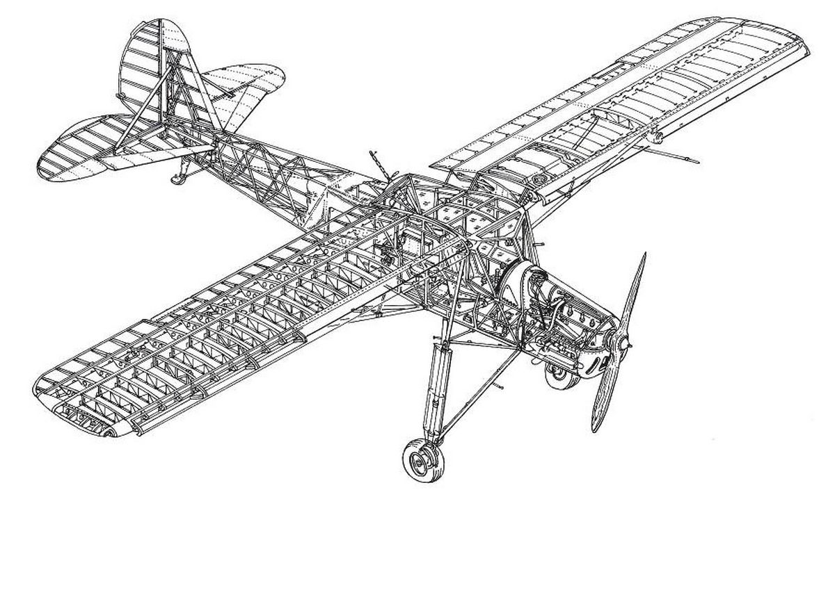 Fieseler Fi 156 Storch конструкция