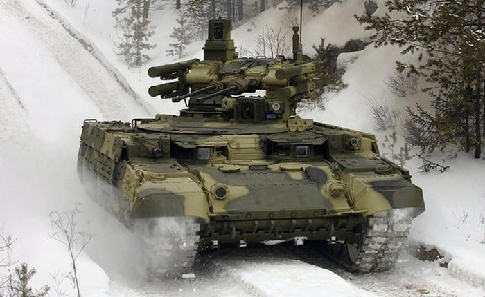 Танк БМПТ Терминатор зимой