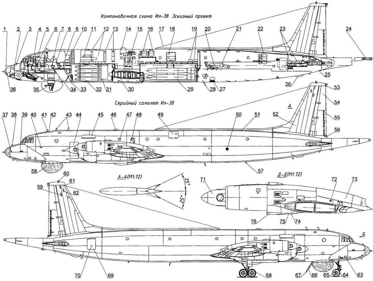 Ил-38 чертежи