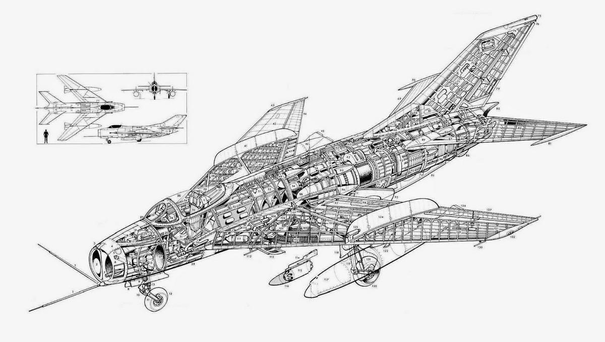 МиГ-19 конструкция