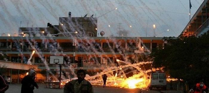 Взрыв фосфорной бомбы